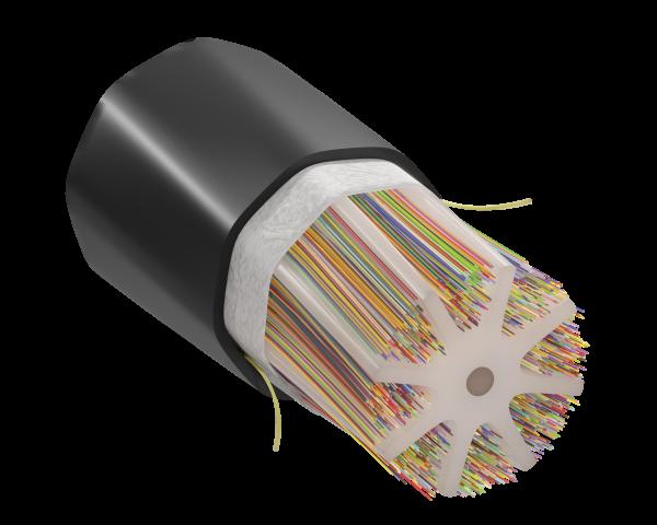 Freeform Ribbon™ OSP Slotted Core Ribbon – 3456F Fiber Cable (Ultra-High Fiber Count)